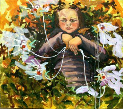 SCHEINWELTEN – Hope Doubt, Öl auf Leinwand,  60x65cm, 2015 © Viktoria Graf