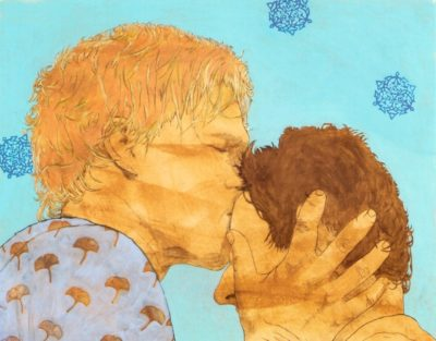 Kisses for me, Acrylfarbe auf Nessel, 65x80cm, 2010 © Katja M. Schneider